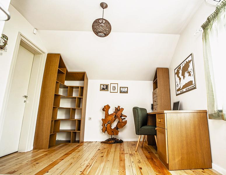хоум офис, вкъщи, интериорен дизайн на кабинет